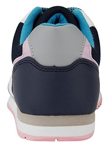 oodji Ultra Mujer Zapatillas Multicolores de Materiales Combinados Multicolor (1079B)