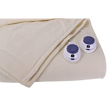 Soft Heat Luxury Micro-Fleece Low-Voltage Electric Heated King Size Blanket, Natural