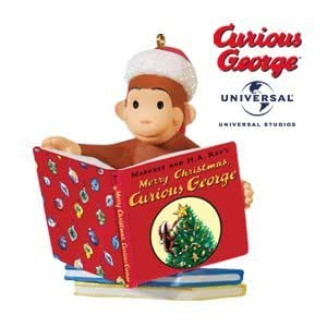 Merry christmas curious george 2010 hallmark for Outdoor merry christmas ornaments