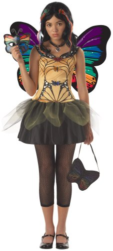 Fairy Strangeling Costumes (Butterfly Masquerade Junior Teen Holiday Party Costume (Yellow/Black;Large) by California)