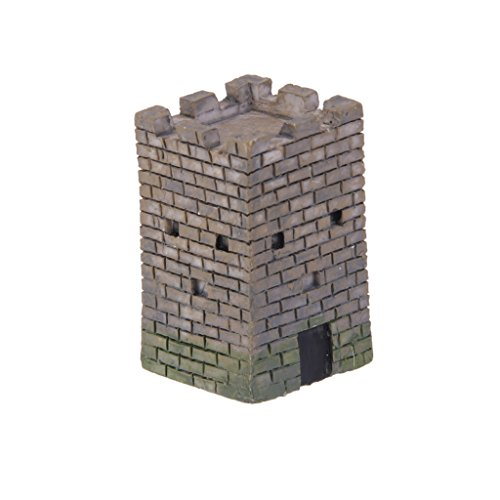 Mini Square Castle Dollhouse Landscape Bonsai Craft DIY Home Garden Decor