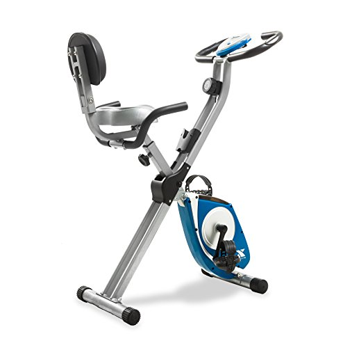 Folding Exercise Bike, Silver (Fitness Bike)