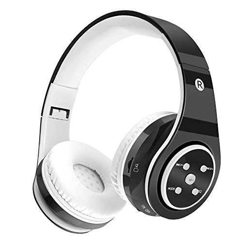 Kids Wireless Headphones Bluetooth Safe Volume Limited 85dB Kids On Ear Headphones,Long Playing Time,SD Card Slot,Stereo Sound,Compatiable for Ipad Cellphone Pc Tablet Kindle-Tekcol (Black)