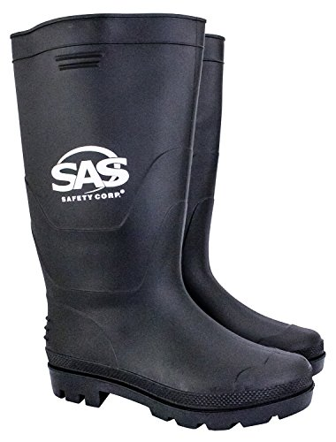 SAS Safety 7130-07 Rubber Work Boots with Non-Steel Toe, 16-Inch Tall, Size-7 - Image 1