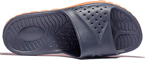 Out Hollow Massage Blue Orange Shower Pool Shoes Slippers MAYI Unisex Anti Points Sandals slip Bath Navy Pn60w8