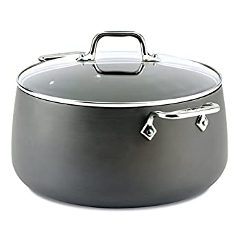 Image of All-Clad 2100090551 1 E7855264 HA1 Hard Anodized Nonstick Dishwaher Safe PFOA Free Stock Pot Cookware, 8-Quart, Black Home and Kitchen