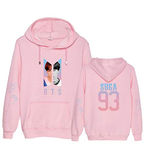 Aopostall Kpop BTS Love Yourself Answer Hoodie Suga Rap-Monster Unisex Pullover for Women Sweatshirt