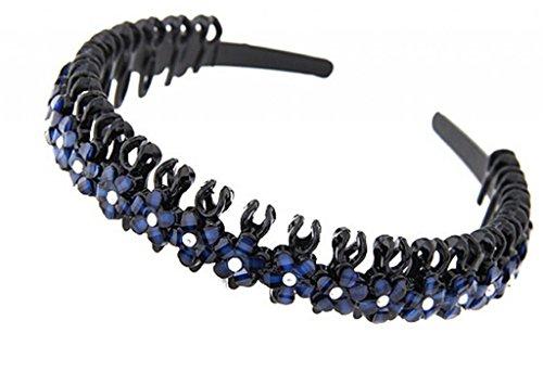 LUNA Womens Cute Rhinestone Alloy Hair Head Band Headbands Accessories Jewelry Royal Blue