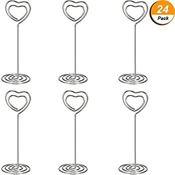 Amazoncom Shappy Pack Of Table Number Card Holders Photo Holder - Table 24 menu