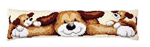 Chunky Cross Stitch - Playful Pups Draught Excluder Chunky Cross Stitch Kit