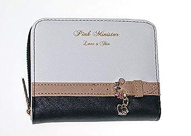 4092c88275c6 ピンクミニスター バイカラー ベルト 財布 子供 キッズ 女の子 ウォレット 可愛い 長財布 二つ折り