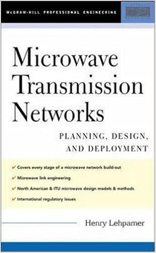 Planning Design and Deployment Microwave Transmission Networks