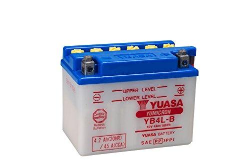YUASA YB4L-B Original Motorradbatterie Inklusiv Säurepack, in Erstausrüsterqualität