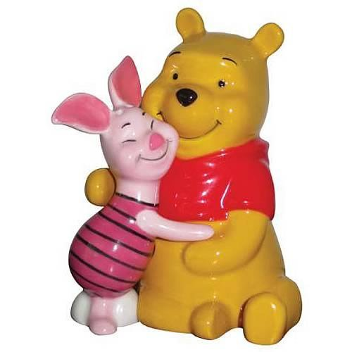 Westland Giftware Life According to Eeyore Pooh and Piglet Hugging 3-3/4-Inch Magnetic Salt and Pepper -