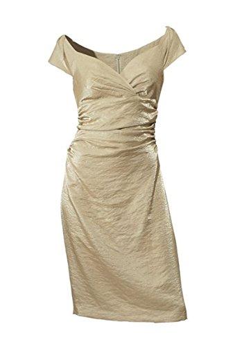 Etuikkleid Abendkleid, knielang, schimmerndes Material