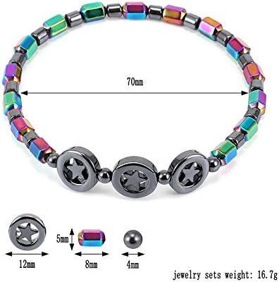 Women Anklets Chain Girls Elegant Lady Beach Foot Jewelry USXTian Colorful stones Foot Chain Ankle Bracelet