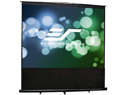Elite Screens Reflexion Series, 100-inch Diagonal 4:3, Active 3D, 4K Ultra HD, and HDR ready, Portable Floor Pull Up Projection / Projector Screen, Model: FM100V