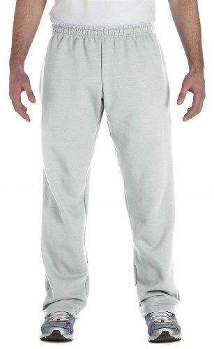 Gildan Men's Open Bottom Fleece Sweatpant, Ash, XXXX-Large