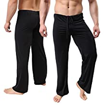 Mens Super Soft Yoga Pants Spandex Casual Training Gym Trousers Long Loose Sweatpants