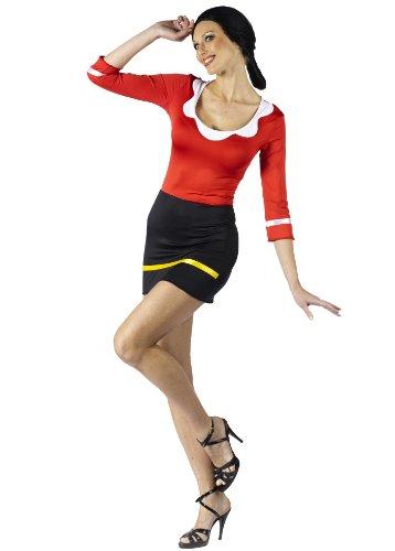 Olive Oyl Hair (Fun World Women's Popeye-Sexy Olive Oyl Costume, Black/Red,)
