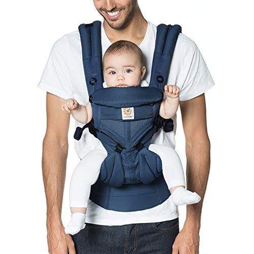 Ergobaby Carrier, Omni 360 All Carry Positions Baby Carrier with Cool Air Mesh, Midnight Blue