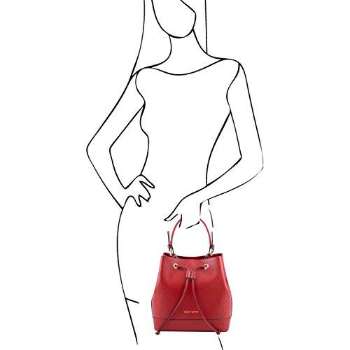 Descuento 2018 Nuevo Tuscany Leather Minerva Borsa secchiello da donna in pelle Saffiano Cognac Rosso En Italia Para La Venta QT8TvIi0Dc