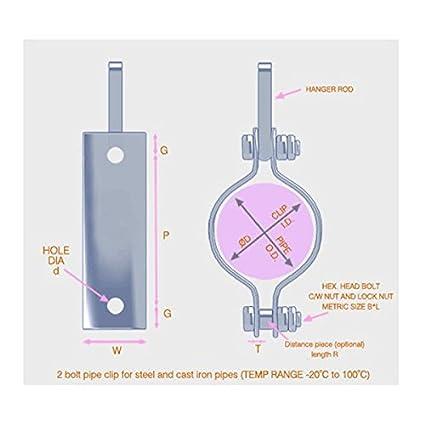29 mm Inside Height Stainless Steel U-Bolt M8 x15 mm Thread 14 mm Inside Diam