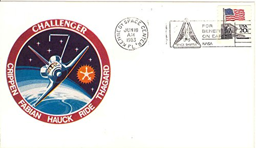 Postal Cover STS-7 Space Shuttle Challenger launch event cover Sally Ride patch cachet