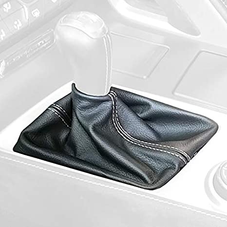 Black Leather-Black Thread RedlineGoods Shift Boot Compatible with Honda Accord 2008-12