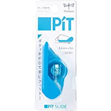 Tombow Pit Slide Tape Applicator, Permanent Adhesive, 1/3-Inch Es Wide, Aqua Mint-82204