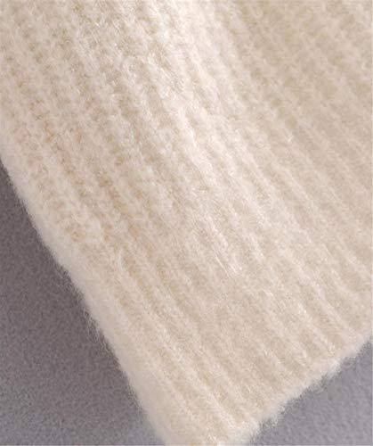 Beige Da Autunno E Con Roohb Alto Collo Inverno Donna Maglioncino Maglia In PBaqO