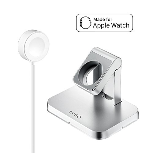 [ Apple MFi Certified ] Apple Watch Charger, OPSO Magnetic Charging Dock and Stand for Apple Watch / iWatch 38mm & 42mm with Detachable Magnetic Charging Cable - 3.3Feet (1 Meter) (Mac Charging Station)