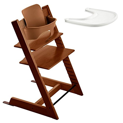Stokke TRIPP TRAPP with Baby Set and Tray - Walnut Brown