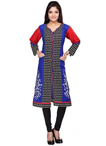 Elegant Blue Ready Made Designer Traditional Partywear Ocassion Wear Kurti