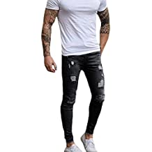 XARAZA Men's Ripped Skinny Denim Jeans Slim Fit Stretch Pencil Pants