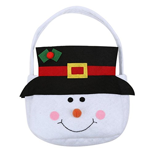 AIMTOPPY Snowman Santa Claus Christmas Elf Spirit Candy Gift Bag Decoration Supplies (Snowman Make Up)