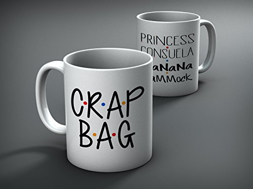 Crap Bag and Princess Consuela Banana Hammock Mug Set, Mr and Mr, His and Hers, Ross and Rachel, Monica and Chandler, Monica to my Rachel