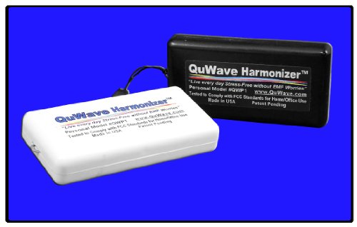 QuWave Personal Harmonizer Scalar Pendant for Superior EMF Protection and Wellbeing. Enhances mental and physical performance and fights stress, illness, and negative energies. Produces a scalar field that protects from external negative forces. (White)