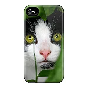 Quality Mialisabblake Case Cover With Sneaky Cat Nice Appearance Compatible With Iphone 4/4s