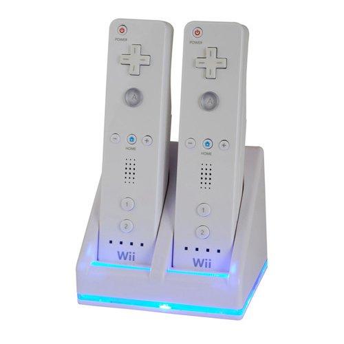 Zettaguard Dual Charging Station - White - Nintendo Wii