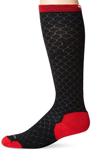 Lorpen Ski Merino Medium Sock - Lorpen Men's T2 Classic Merino Ski Midweight Socks, Red, Medium