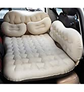 CALOER Thickened Inflatable Car Air Mattress with Pocket,Headboard,Pillows and Air Pump (Portable...