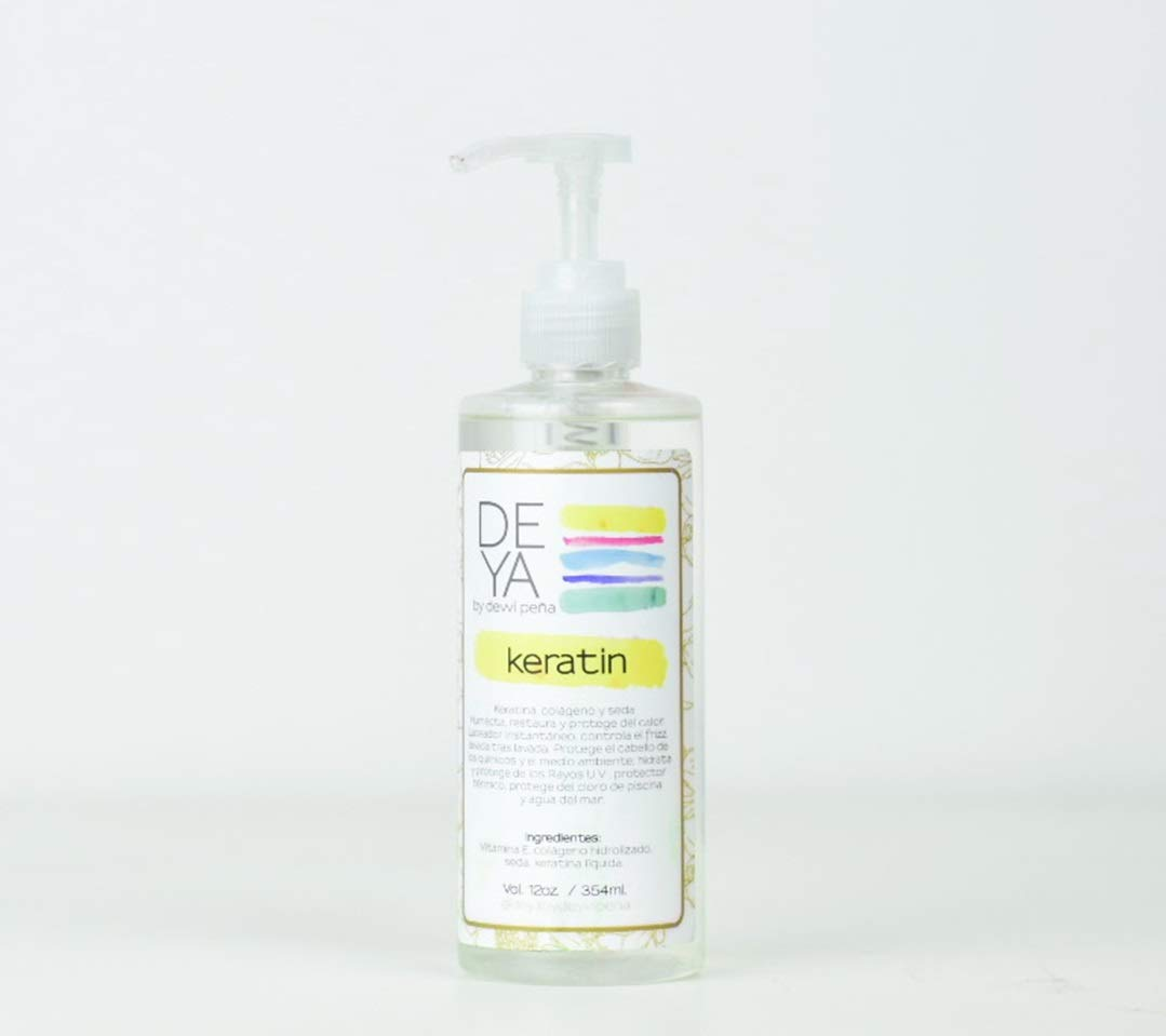 DEYA Keratin Leave-In with Silk, Keratin and Collagen, Heat Protection, Instant Anti Frizz 8 OZ.