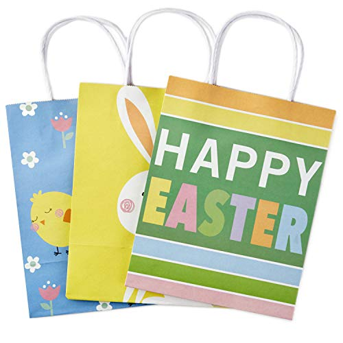 Hallmark Medium Gift Bags Assortment, Happy Easter (Pack of 3)]()