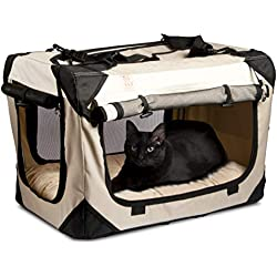 "PetLuv Premium Cat Carrier & Travel Crate with Added Safety Features | The Happy Cat Carrier | Reduces Anxiety | (20"" x 13"" x 13"")"