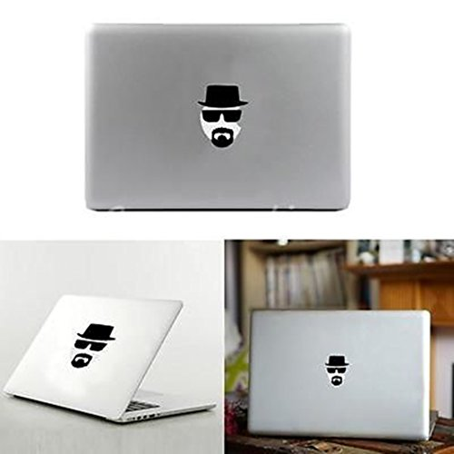 [Extreme Popular Heisenberg White Laptop Stickers Decal Skin Black Hat for Apple MacBook Air Pro 13