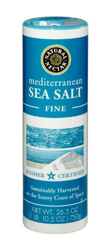 Natural Nectar Mediterranean Sea Salt, Fine, 26.5-Ounce Canisters (Pack of - Online Sun Copper