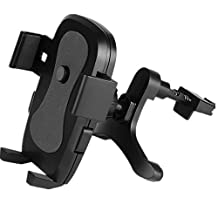 Leagway Car Phone Holder, Car Air Vent Outlet Mount Holder Cradle, For iPhone 8 7 7 Plus SE 6s 6 Plus 6 5s 5 4s 4 Samsung Galaxy S6 S5 S4 S7 S8 Pllus LG and More Smartphones, 360 Degree, 2017 (Black)