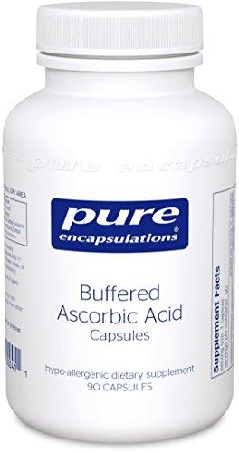 Pure Encapsulations - Buffered Ascorbic Acid - Hypoallergenic Vitamin C Supplement for Sensitive Individuals - 90 Capsules