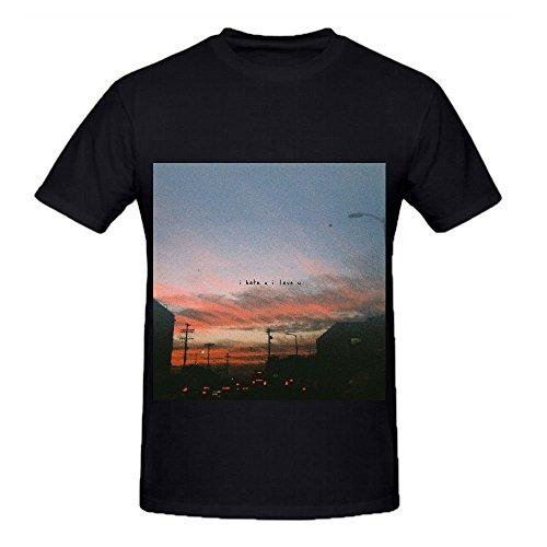 Gnash I Hate U, Love U Jazz Album Men O Neck Short Sleeve Shirts Black